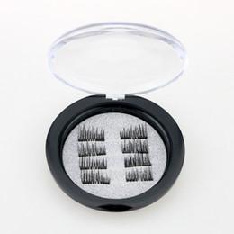 Ohne kleber online-Magnetische Wimpern Crisscross Style Falsche Wimpern 8Pcs / 4 Pairs Wimpern Set Ohne Kleber Fast Paste Eyes Makeup Tools