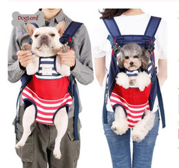 spring totes Coupons - Pet dog cat carrier backpack travel carrier front chest large portable bags for 12kg pet outdoor transportin mochila para perro gb1283