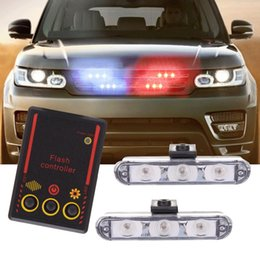 led light for cars flashing Promo Codes - Car LED Flash Light 1-for-2 3 LED Car Multi-mode Drive-by-wire Dazzling Flash Light Lights Accessories