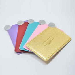 Handspiegel online-Unzerbrechlich Edelstahl Make-up Spiegel, Handheld kompakte Taschenspiegel winzige Brieftasche Spiegelplatte für Make-up (1000 Stück benutzerdefinierte Stile oder Logo)