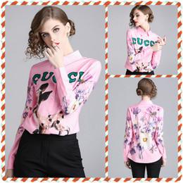 Yeni kadın Moda Mektuplar Hayvan Baskı İnce Gömlek Zarif Düğme Ön Yaka Boyun Artı Boyutu Gömlek Ofis Bayan Seksi Lüks Parti Bluzlar supplier animals blouses nereden hayvanlar bluzlar tedarikçiler
