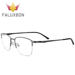Occhiali da vista da uomo in titanio con montatura in vetro senza montatura occhiali da vista supplier semi rimless prescription glasses da occhiali da vista semi senza montatura fornitori