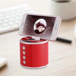 alto-falante bluetooth hy Desconto HY-33 Mini Bluetooth Speaker Portátil Soundbox com suporte do telefone oculto Bluetooth5.0 alto-falantes Mic para iPhone Samsung Altifalante
