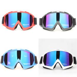 Esqui cross on-line-Motocicleta Esqui Cross Country Óculos de Ciclismo Ao Ar Livre Fosco Blinkers Moda Azul Vermelho Preto Branco Cool Eye Protector 16zl D1