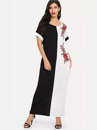 Lose schwarze federn online-Afrikanische Kleider Für Frauen African Dashiki Riche Kleid Für Frauen Schwarze Und Weiße Farbe Federdruck Lose Größe Kleid