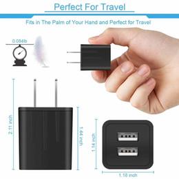 Iphone fcc on-line-Amazon hot ul certificado fcc 5 v 2.1a usb carregador de viagem carregador de parede adaptador de energia do telefone móvel para iphone samsung lg huawei universal