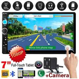 двойной дин с сенсорным экраном стерео Скидка Автомобильная стереосистема Double Din с автомобильной стереосистемой 2 Din Автомобильный 7-дюймовый HD мультимедийный плеер с сенсорным экраном Автозвук Стерео Bluetooth FM Android