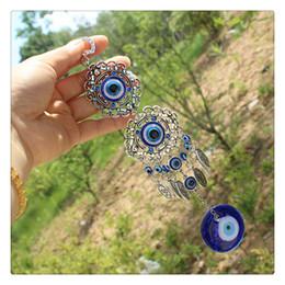 mi moneda münzen Rabatt Trendy Anhänger Blau Blicks-Amulett Schutz türkische Wandbehang Hauptdekoration Blessing Frauen-Geschenk-glücklichen hängenden Kreative Großhandels