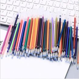 Canada Les recharges populaires de stylo gel d'encre de couleur 0,7 mm Neon Glitter Art Pastel Soyez intelligent Remplacez 100pcs / set 60pcs / set 48pcs / set WJ001 cheap neon ink Offre