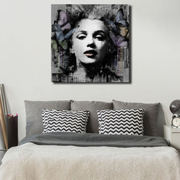 2020 marilyn monroe ritratto dipinto Marilyn Monroe Portrait Canvas Poster Prints Wall Art Painting Immagine decorativa Modern Bedroom Home Decoration marilyn monroe ritratto dipinto economici