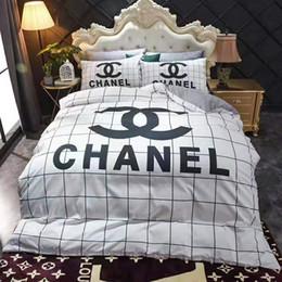 2019 re del comforter del pavone Set di biancheria da letto di cotone per fiori di marca firmato Designer 4 pezzi Copripiumino lenzuola Federe Tessuti per la casa Biancheria da letto confortevole