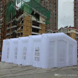 tenda inflável de cubo Desconto Tenda de 20m de comprimento inflável Cube Marquee inflável para a exposição e Advetisement 20m * 10m bom