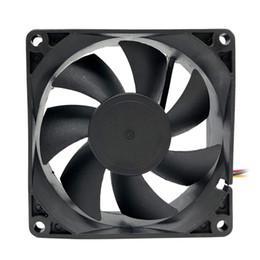 2019 источник питания вентилятора охлаждения 12v NEW F8025 80мм Компьютер Cooler Вентилятор Настольный вентилятор охлаждения Низкий уровень шума 12V Выхлоп для PC Case / питания скидка источник питания вентилятора охлаждения 12v
