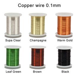 Gravatas do cobre on-line-Riverruns 6 Conjunto de Cores Fio de Cobre Ultra Manchado Não-manchando 0.1mm, 0.2mm Material Super Realista de Amarração com Mosca Orgulhosamente da Europa