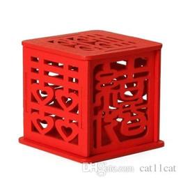 Chinesische rote süßigkeiten-boxen online-Chinesischer roter hölzerner Hochzeitssüßigkeitskasten