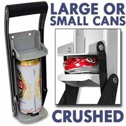 2019 botellas de reciclaje Abridor de botellas de triturador de latas de aluminio de 12 oz Herramienta de reciclaje ecológica de metal resistente de soda montada en la pared de soda resistente botellas de reciclaje baratos
