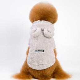 kleine mischung beugt großhandel Rabatt Herbst und Winter New Hundekleidung, Bärenohren, Haustier-Kleidung, reine Farben, Caps und verdickte Dog Suede WL128