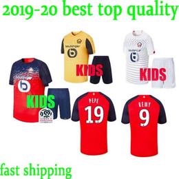 Kinder r online-2019 2020 LOSC Lille Trikots PEPE REMY Trikot BAMBA R LEAO Trikot 19 20 Lille Olympique Trikot Kids Kit