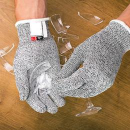 guantes anti-corte Rebajas Guantes anti-corte al por mayor Guantes de seguridad resistentes al corte a prueba de cortes de alambre de acero inoxidable Malla metálica Cocina Carnicero Resistente a cortes