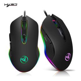 2019 laptop-tasten HXSJ S500 Programmierbare Gaming-Maus 4800 DPI 6 Tasten RGB-hintergrundbeleuchtete USB-optische Maus mit Gamer für PC Computer Laptop günstig laptop-tasten