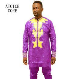 Vêtements africains de broderie en Ligne-Robes africaines pour homme bazin riche broderie conception robe africaine homme vêtements LC901
