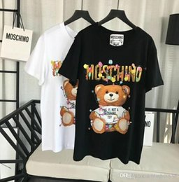 T-shirt à manches longues femme en Ligne-Marque de luxe Designer T-shirt femme Tops qualité Holiday Lights Teddy bear Loisirs t-shirt Casual manches courtes O Cou t-shirts