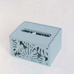 2019 carro de papel vintage Caixa De Tecido Do Vintage De Madeira Caixa De Tecido Oco Car Home Paper Holder Pequeno Grande alta qualidade carro de papel vintage barato