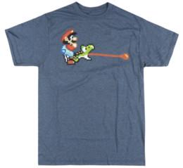 2019 mario bros vidéos Super Mario Bros Pixel vidéo T-shirt du jeu Les modèles de base Hommes Heather T-shirt