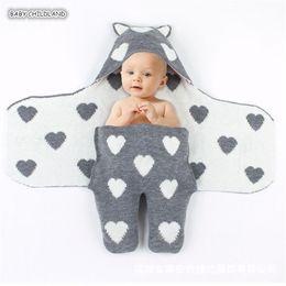 2019 cobertor com capuz recém-nascido Cobertor de bebê Swaddle Wrap Crochet Knitted Newborn Baby Blanket Respirável com capuz Reciving Cobertores Newborn Sleeping Bags desconto cobertor com capuz recém-nascido
