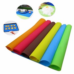 Tapetes para forno on-line-40x30 cm Tapetes De Silicone Baking Liner Silicone Forno Mat Isolamento Térmico Pad Bakeware Kid Tabela Placemat Decoração Mat MMA2097