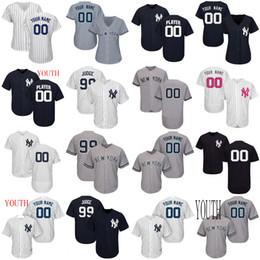 Yankees Aaron Juiz Jersey Nova Iorque Giancarlo Stanton Ruth Manto Gregorius Andujar Torres Severino Chapman Pássaro Sanchez Homens Mulheres Juventude de