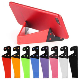 V stand di telefono online-Universale del supporto pieghevole del basamento del telefono per Samsung Xiaomi Colorful V supporto a forma di Smartphone Tablet PC Desktop