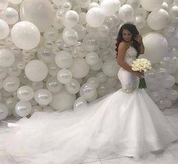 2020 vestidos médios Árabe Middle East Sereia vestidos de casamento 2020 Beading Lace Tribunal Trem do Marfim vestidos de noiva vintage vestidos médios barato