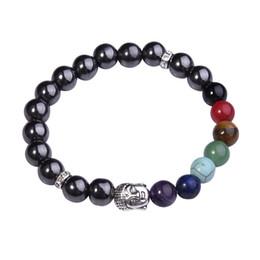 Canada Bracelets de sept chakras avec des pierres précieuses de tête de Bouddha pour hommes et femmes Offre