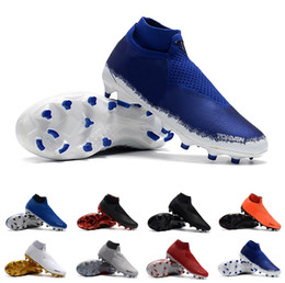 Canada nike  Phantom VSN Elite DF FG Chaussures De Football High Top Soccer Crampons Maille Phantom Vision Bottes De Football D'origine Chaussettes Bottes De Football Taille 7-12 cheap high top size soccer cleats Offre