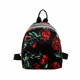 af75d43ee7e9 2019 FashionWomen Leather Backpack Flower Floral Backpacks For Teenage Girls  Small Printing Backpack Female Schoolbag Rucksacks For Girls