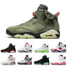 X tomas online-Nike AIR JORDAN Retro 6 shoes DMP 6 PSG 6s Hombres Zapatillas de baloncesto UNC Tinker Infrarrojo negro Gatorade Alternativo Trigo deportivo Azul  Hombres zapatillas deportivas