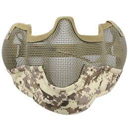 Neue Helmmaske Half Face Guardian Metal Steel Net Mesh Tarnmaske von Fabrikanten