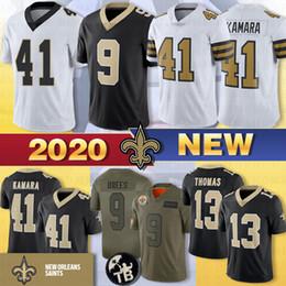 2019 camisas de rugby da faculdade 41 Alvin Kamara Jersey 9 Drew Brees Jersey 13 Michael Thomas Taysom Hill 23 Marshon Lattimore Bryant 2020 Jersey NewOrleansJerseysSaints