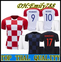 339a46892e3 2018 Designed for home adult kit + Socks Soccer Jersey MODRIC PERISIC  RAKITIC MANDZUKIC SRNA KOVACIC Red KALINIC Hrvatska Football Shirt