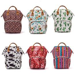 Bolsa de pañales al aire libre online-Mommy Pañales Bolsas Pañales Mochilas de maternidad Bolsos de diseño Impermeable Madre Bolsas de viaje de enfermería Bolsa de almacenamiento al aire libre TTA1777