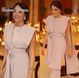 Vestido indio sin mangas online-Precioso 2020 Vintage Arabia Saudita sin mangas Vestido de fiesta Perlas de la envoltura Ropa formal de la India Por encargo Vestidos de noche de fiesta de talla grande