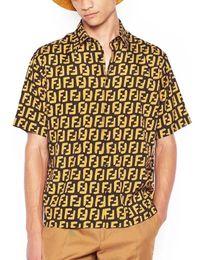 19 été marque de mode conception à manches courtes revers chemise Casual Lettre Imprimer Mens vêtements Polo shirt Blouse Vintage tops ? partir de fabricateur