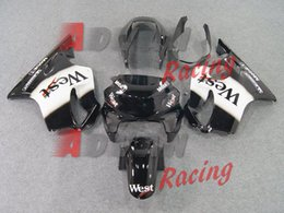 west fairing cbr Coupons - 3Gifts New Injection Mold ABS motorcycle fairings kit fit for Honda CBR600F4 CBR 600 FS F4 1999 2000 99 00 Fairing set custom black West