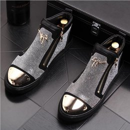 Botines británicos online-Británicos de lujo para hombre botines de cuero genuino para hombre de negocios botas de moda para hombre botas de cuero de alta calidad negro boda zapatos de fiesta W238