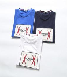 Mejores camisas de marca para hombres online-Mejor versión diseñador de moda marca ropa de verano camiseta para hombre paris letra camiseta de impresión rota camiseta ocasional camiseta superior