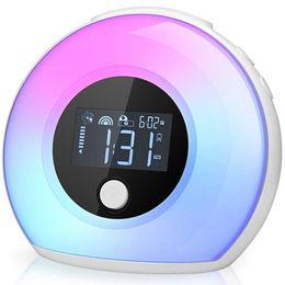 Качественные ночные часы для спальни - детские часы с Bluetooth-динамиком и детской ночной лампой для сна от