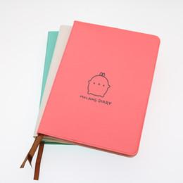 Cahier d'apprentissage en Ligne-1pc Calendrier Mode Lapin Notebook Couverture Couleur Rose / Bleu / Blanc Journal Apprentissage Cadeau Cadeau École Bureau Papeterie