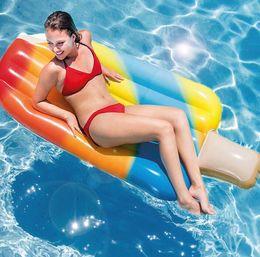 Nouvel été adulte eau gonflable dessin animé glace lit flottant lit flottant rangée anneau de natation gonflable monter chaise ? partir de fabricateur
