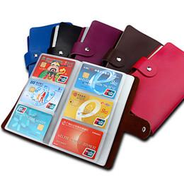 Echtes Leder Designer Brand Kreditkarteninhaber Business ID Karte Fall Buch Stil 90 Count Name Kartenhalter Buch, Karteninhaber von Fabrikanten
